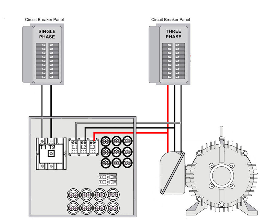 Three phase converter wiring diagram